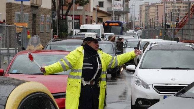 Traffico a Firenze in una foto di repertorio (New Press Photo)