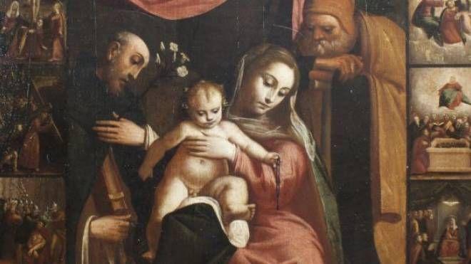 La 'Madonna del Rosario' che ritornerà nella chiesa di Monterosso