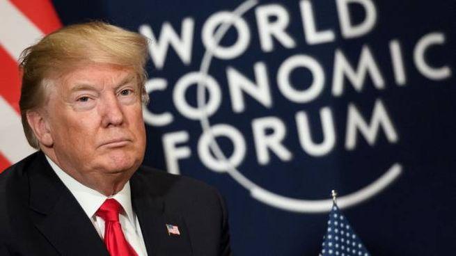 Donald Trump a Davos (Afp)