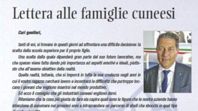 Lettera alle famiglie cuneesi (Sito Confindustria Cuneo)