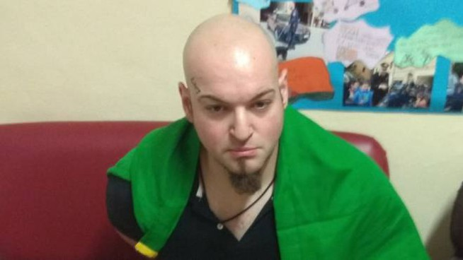Luca Traini poco dopo l'arresto
