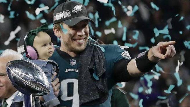 Nick Foles, quarterback degli Eagles e nuovo idolo del Super Bowl (Ansa)
