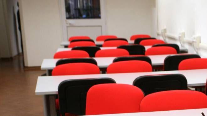 L'aula studio di via Petroni a Bologna (FotoSchicchi)