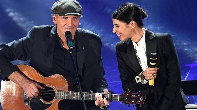Sanremo 2018, James Taylor e Giorgia (Ansa)