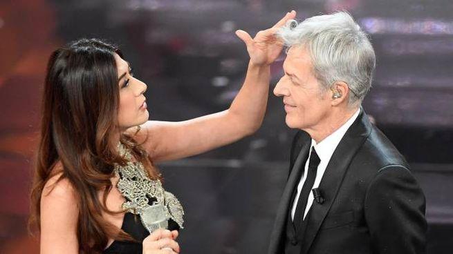 Virginia Raffaele e Claudio Baglioni (Ansa)