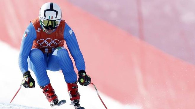 Olimpiadi invernali, Peter Fill in azione (Ansa)