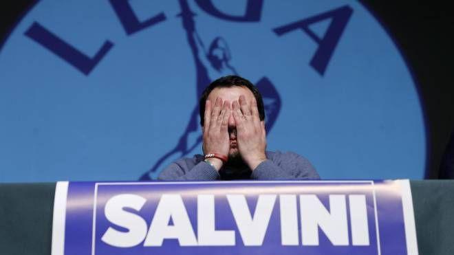 Matteo Salvini, vittima di un attacco hacker (Ansa)