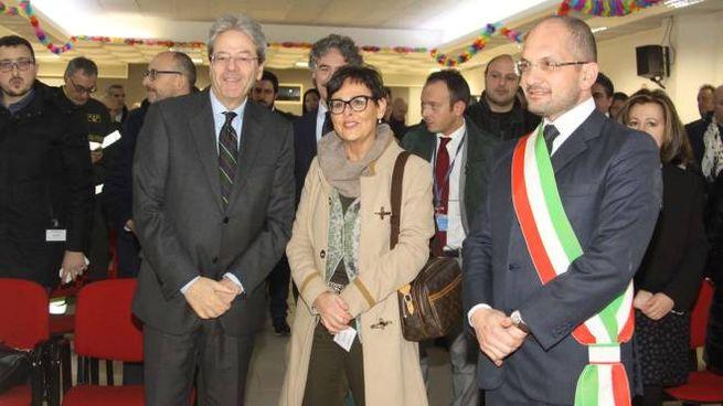La visita del premier Gentiloni (foto Labolognese)