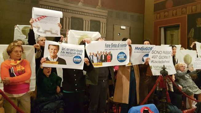 La protesta del comitato