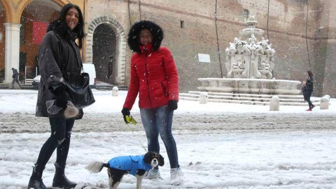 Neve a Cesena il 22 febbraio 2018 (foto Ravaglia)