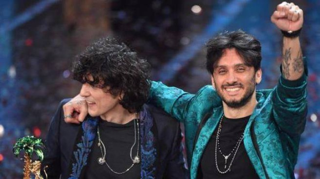 Fabrizio Moro e Ermal Meta all'Ariston