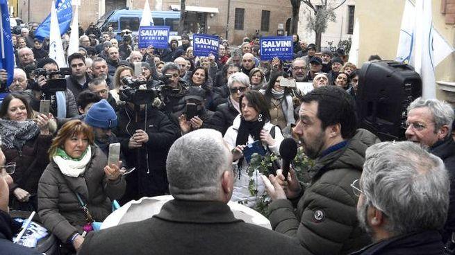 Matteo Salvini a Grosseto (foto Aprili)