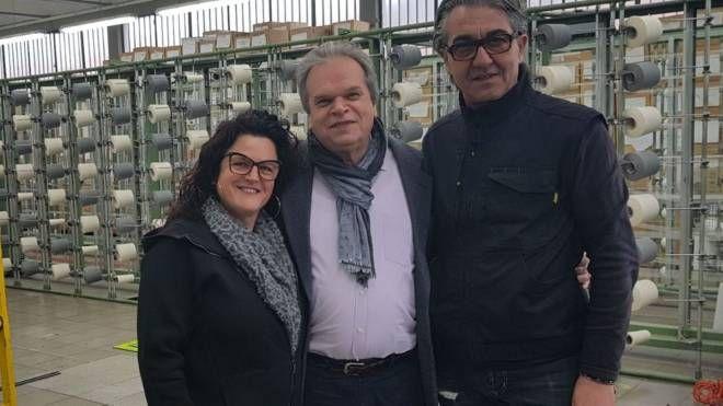 Il sindaco di Montemurlo Mauro  Lorenzini ha incontrato l'imprenditrice Luana Coppini insieme al  marito Daniele Faggi