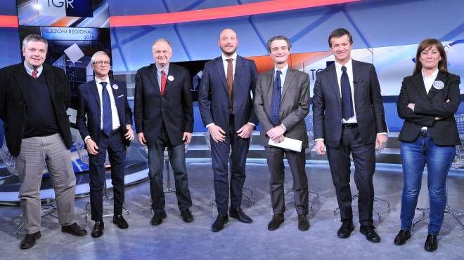 I candidati alle regionali in Lombardia (Newpress)
