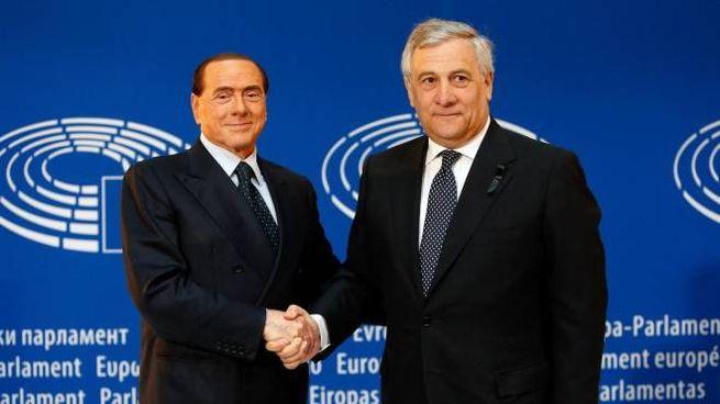 Silvio Berlusconi e Antonio Tajani (Ansa)