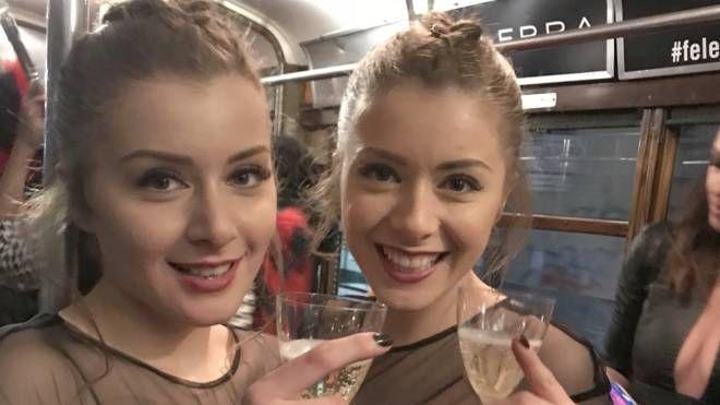Le stiliste  gemelle Francesca e Veronica Feleppa