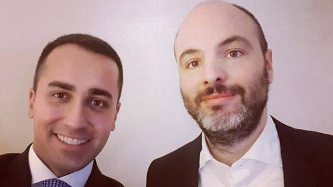 Andrea Roventini con Luigi Di Maio (Instagram)