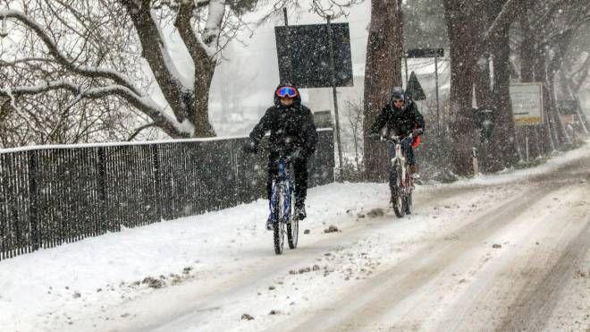 Una passata nevicata a Borgo San Lorenzo (fotocronache Germogli)