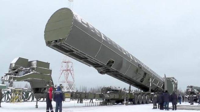Sarmat, il missile balistico intercontinentale di Putin (Ansa)