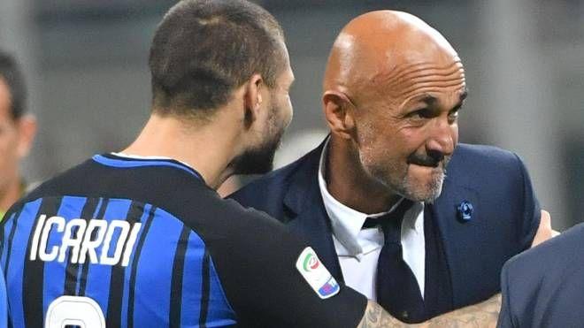 Mauro Icardi e Luciano Spalletti (Ansa)
