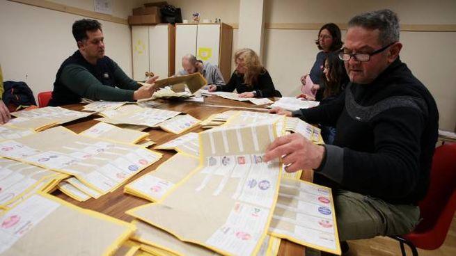 Lo scrutinio in un seggio