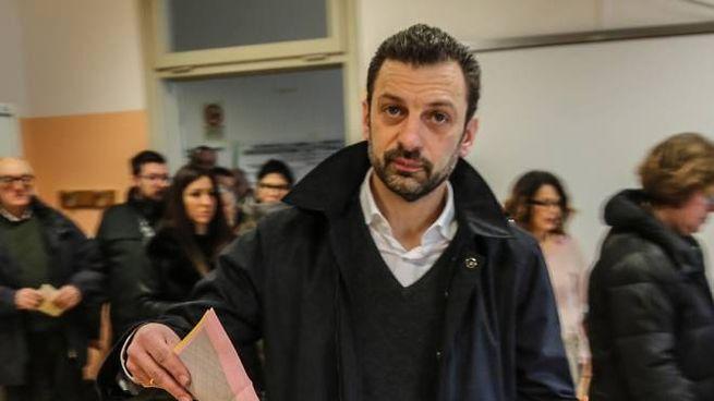Gabriele Toccafondi al voto alla scuola Cavalcanti di Sesto Fiorentino (foto Germogli)