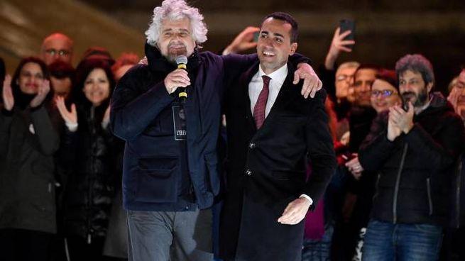 Beppe Grillo, Luigi Di Maio e tutti gli esponenti del M5s (Ansa)
