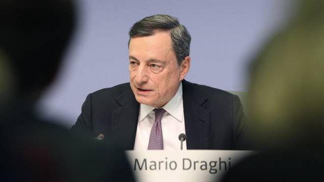 Mario Draghi, presidente della Bce (LaPresse)