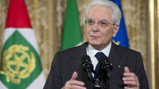 Il Presidente della Repubblica Sergio Mattarella (Foto Ansa)