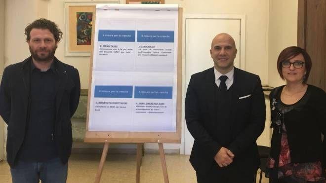 L'assessore D'Angelo, il sindaco Lucciarini e il vice sindaco Bosano