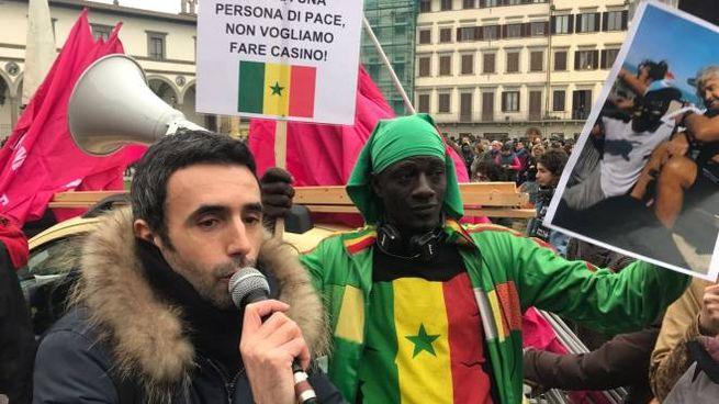 La manifestazione dei senegalesi