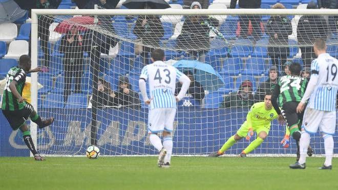 Il gol di Babacar (Foto LaPresse)