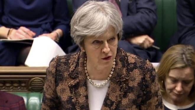 La premier britannica Theresa May attacca Mosca sul caso Skripal (Ansa)