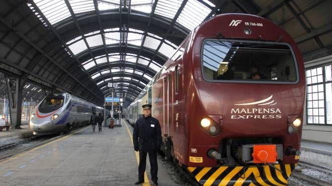 Il Malpensa Express in stazione Centrale