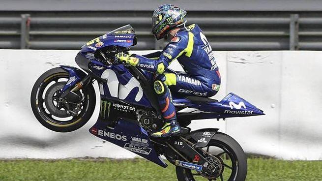 Valentino Rossi pronto per la Motogp 2018. Prima tappa Qatar (Ansa)