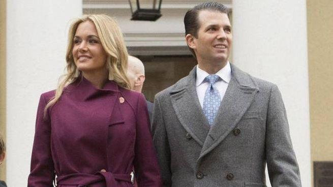 Donald Trump Jr con la moglie Vanessa (Ansa)
