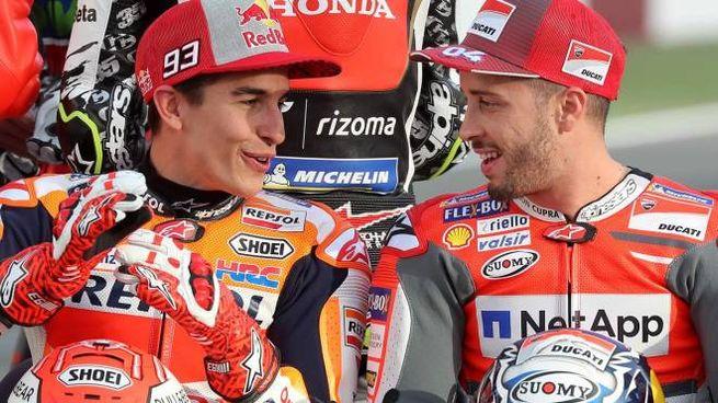 Motogp, Marc Marquez e Andrea Dovizioso (Afp)