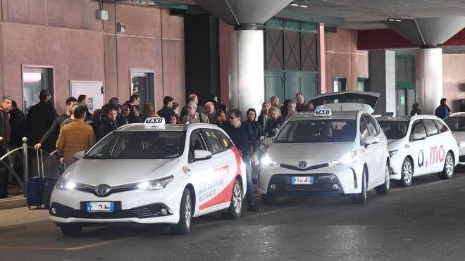 Taxi, merce rara anche in aeroporto (foto Schicchi)
