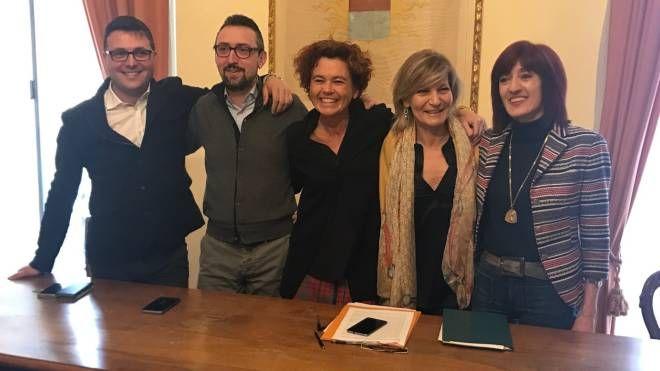 Matteo Gramignoli, Matteo Piloni, Stefania Bonaldi, Morena Saltini e Cinzia Fontana