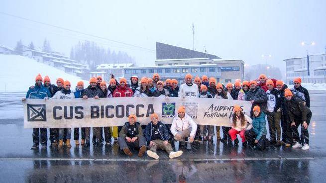 I ragazzi del Cus Bicocca a St. Moritz