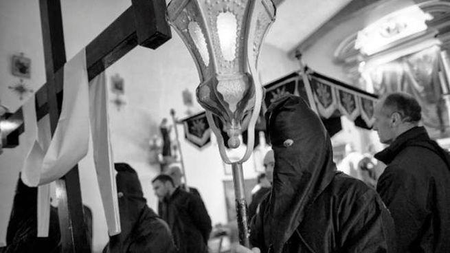 Un momento della processione a Radicofani