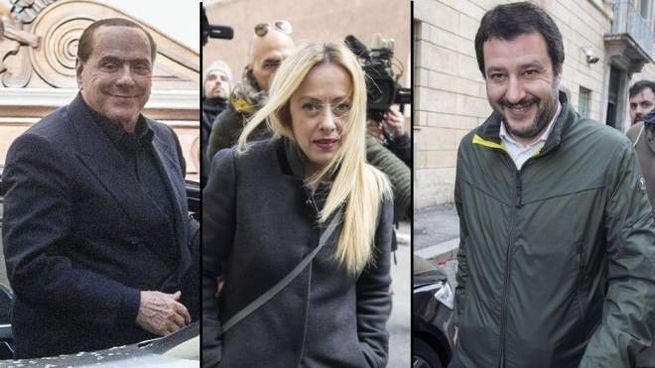 Summit del centrodestra: Berlusconi, Meloni e Salvini