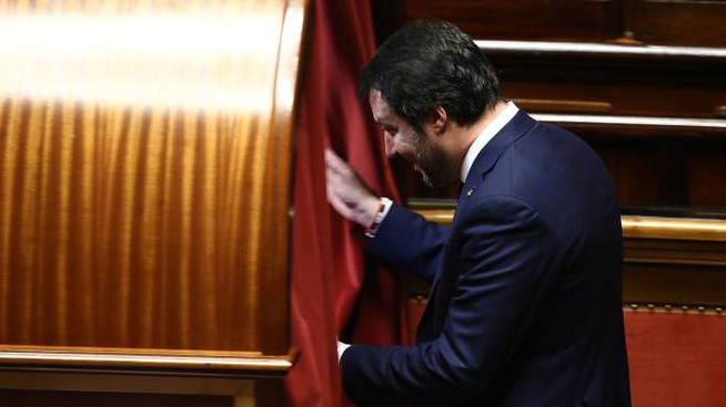 Matteo Salvini al voto (Imagoeconomica)