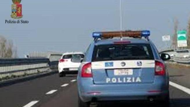 La Polizia Stradale durante la staffetta