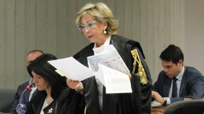Il pg Gemma Gualdi durante la requisitoria (Newpress)
