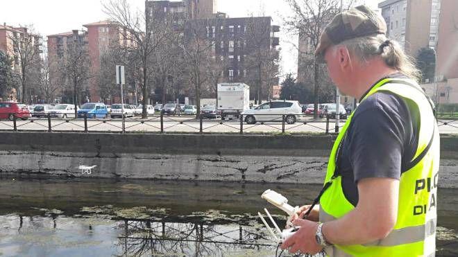 I droni utilizzati per controllare lo stato di pulizia del naviglio