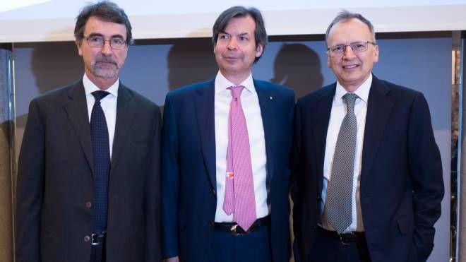 Fabrizio Guelpa, Carlo Messina e Gregorio De Felice