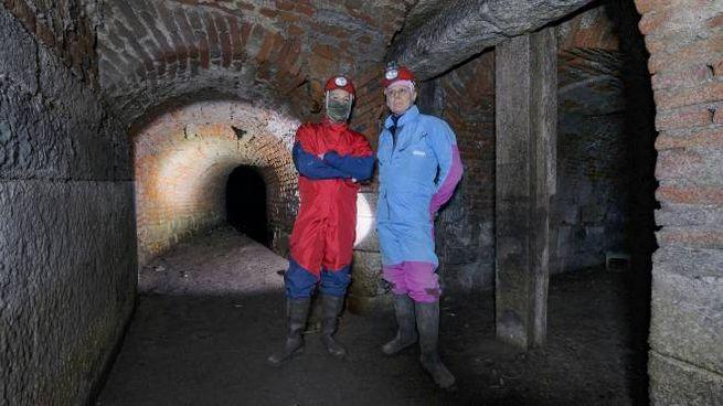 Padovan nel tunnel  assieme a Ferrario(Newpress)