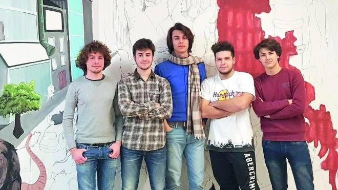 Tommaso Valerio, Alessio Bianchi, Filippo Paganini, Matteo Cesarini e Marco Bologna