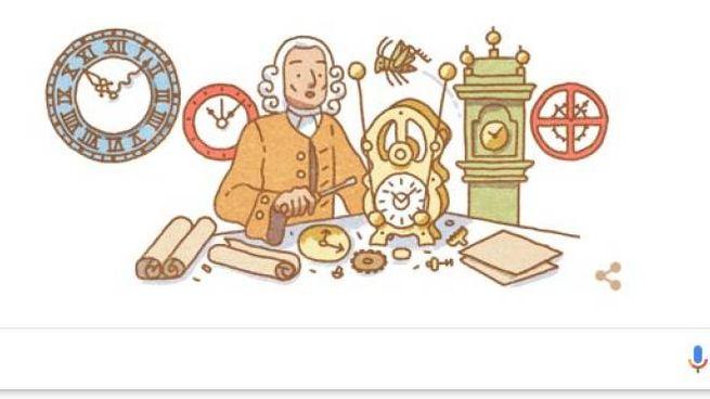John Harrison, ispiratore del doodle di Google